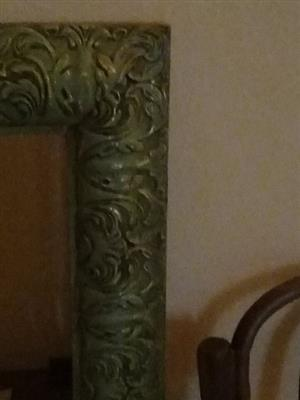 Green framed mirror for sale