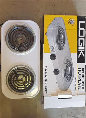 Logik 2 plate stove for sale