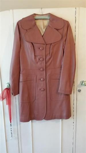 Woman's Three-Quarter Length Genuine Leather Coat