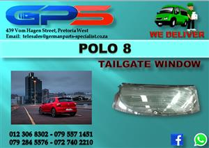 VW Polo 8 Tailgate Window Used Part for Sale