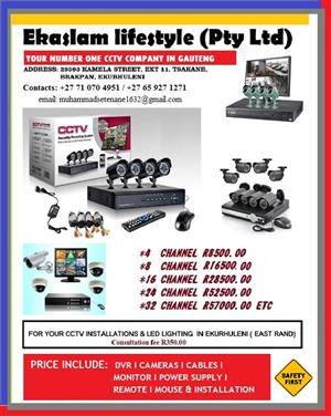 AHD CCTV CAMERAS AND BEAMS