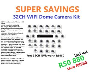 32 Cameras and Network Video Recorder. Special Deal