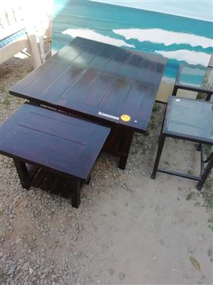Wooden table set for sale