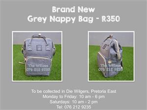 Brand New Grey Nappy Bag