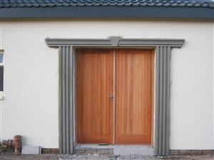 Window and door surrounds.