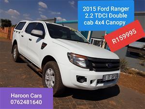 2015 Ford Ranger double cab RANGER 2.2TDCi P/U D/C