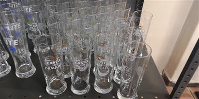 Various castle draught glasses