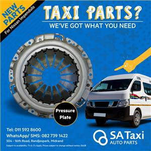 NEW Pressure Plate for Nissan NV350 Impendulo - SA Taxi Auto Parts quality spares