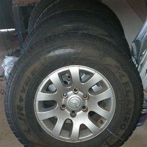 mazda bt50 rims and tyres