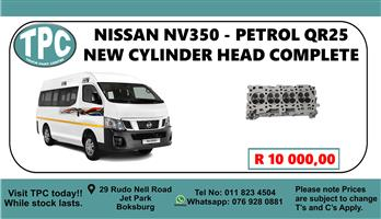 Nissan NV350 - Petrol QR25 New Cylinder Head Complete - For Sale at TPC.
