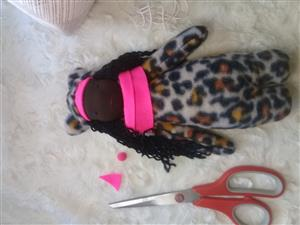 Handmade soft rag dolls/Cheetah/ cute one of a kind toy