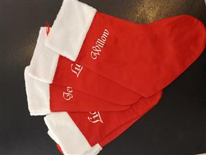 Personalized Christmas Stockings.
