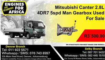 Mitsubishi Canter 2.8L 4DR7 5spd Man Gearbox Used For Sale.