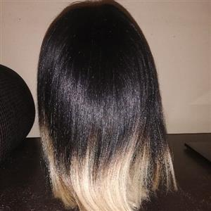 Beautiful Human Hair Ombre Lace Wig