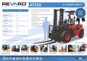 Revaro AT25D 2.5Ton All Terrain Forklift (2 Stage)