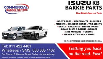 new isuzu bakkie spare parts
