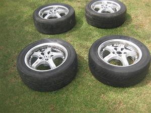 Mag Wheels - 16 Inch With Bridgestone Potenza Tyres - R4,000