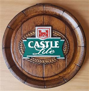 Castle Lite Beer Barrel Ends. New Design Logo.  Brand New Products.