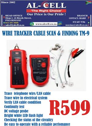 Wire Cable Scan & Finder Tracker TM-9