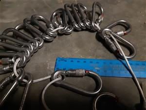 Stainless steel Heavy duty CARABINERS For sale