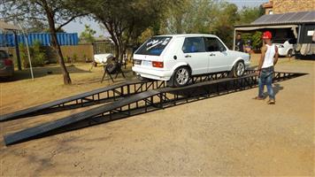 Car sales display ramps