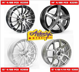 brand new alloy rims 14 inch mags from R3250 set of 4