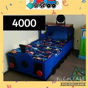 Kids Train Bed plus mattress