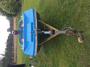 Spider 3 boat & 15 Hp Mariner on galvanized trailer for sale