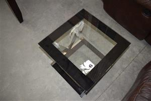 Glass top side table for sale