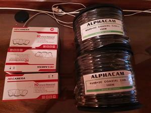 100 m camera cable R500 per roll HD bullet camera AHD R350 each