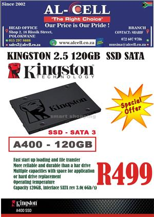 Kingston 2.5″ 120 Gb SSD Sata Hard Drive