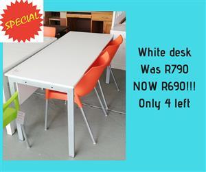 Smaller white desk for sale