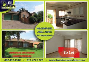 3 bedroom Simplex to let in Wilgeheuwel