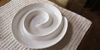 Swirly snack dish for sale
