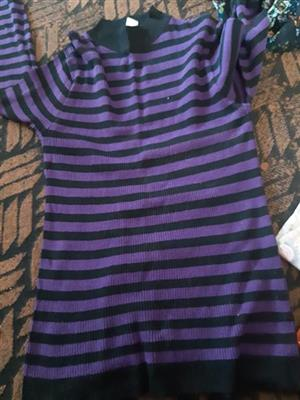 Blue and black striped jersey for sale