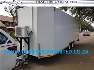 TRAILERS UNLIMITED ENCLOSED MOBILE UNIT. 6500 X 2500 X 2500 INSULATED PANELS.