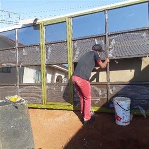 folding doors .  aluminium garage door