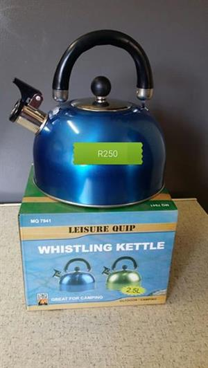 Blue whistling kettle for sale