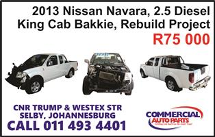 nissan navara 2013 2.5d rebuild for sale