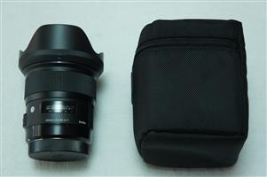Sigma Lens 24 1.4 AF DG HSM Canon Art LIKE NEW