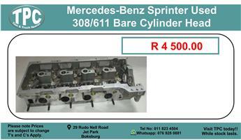 Mercedes-Benz Sprinter Used 308/611 Bare Cylinder Head For Sale.