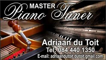 Piano tuning and repairs / Klavier Stem en herstel