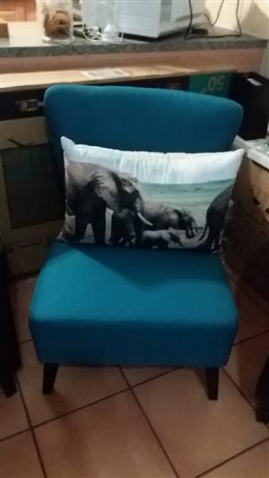 Turqoise Side/Occasional chair sale