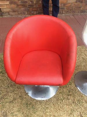 Red leather chair for sale