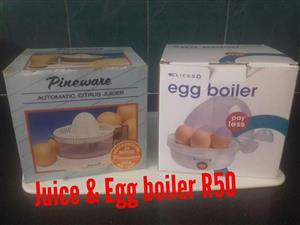 Juicer and egg boiler