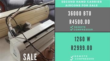 X2 Carrier Aircon's for SALE