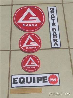 Gracie Barra Jiu Jitsu patch kit