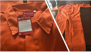 Orange one piece overalls