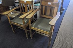 Wooden Chairs with Arm Rests