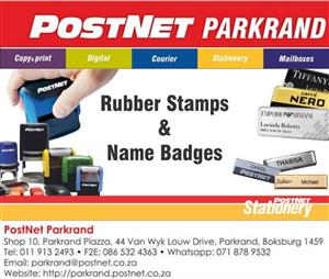 Rubber Stamps and Name Badges